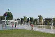 The water play features introduced to Kingston Park continue to be popular in 2013.