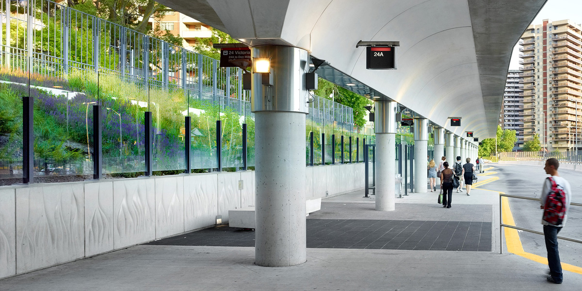 The new bus terminal at Victoria Park offers a welcoming environment for riders. Image courtesy TTC.